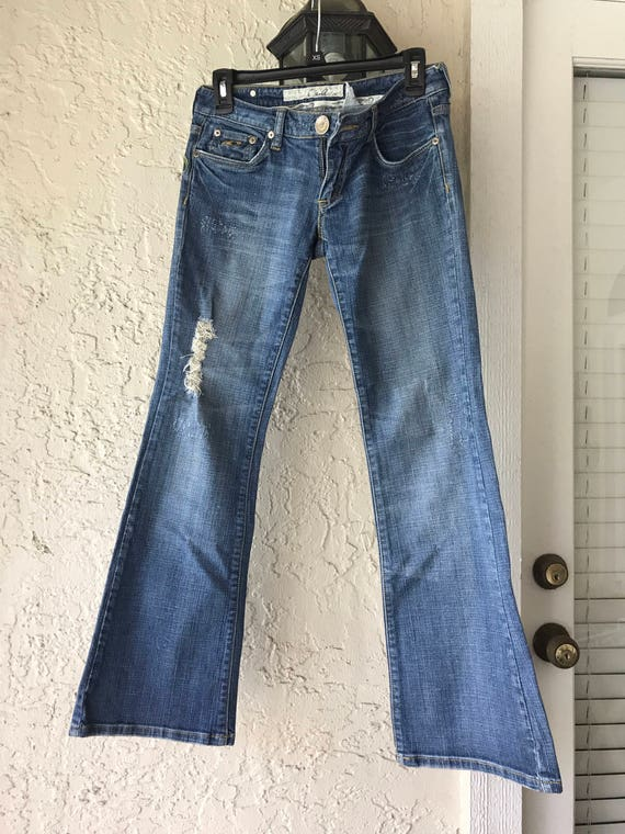 Vintage Jeans, Embroidered Jeans, Distressed Jean… - image 2