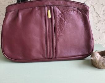 Vintage Clutch, Burgundy Clutch, Leather Clutch, Burgundy Purse, Vintage Handbag, Leather Clutches, Burgundy Handbags, Vintage Clutches
