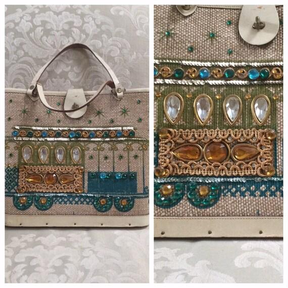 Vintage Enid Collins Handbag, Cable Car Handbag, B