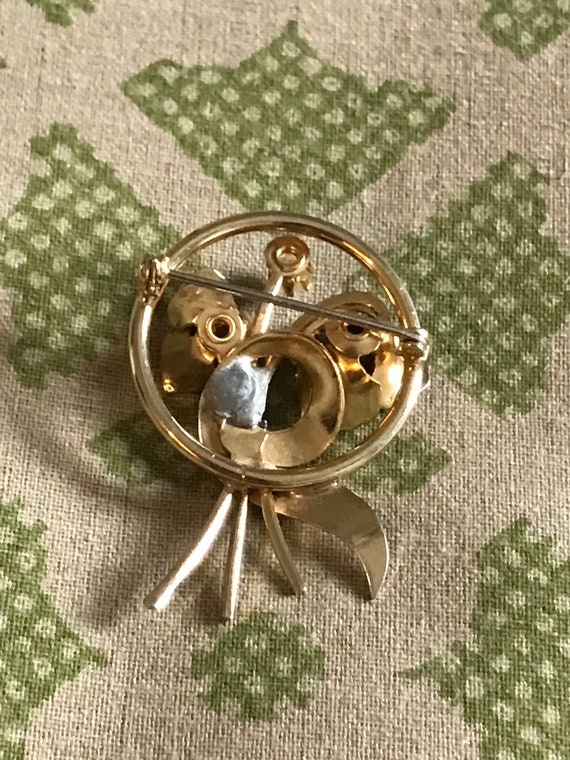 Vintage Pearl Brooch, Gold Brooch, Vintage Brooch… - image 5