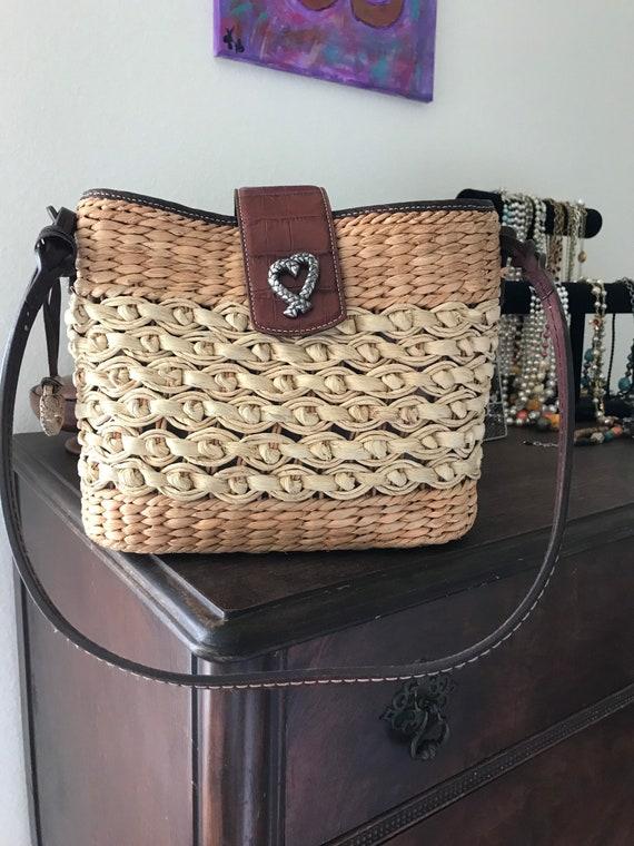 Brighton Handbag, Straw Shoulder Bag, Straw Handba