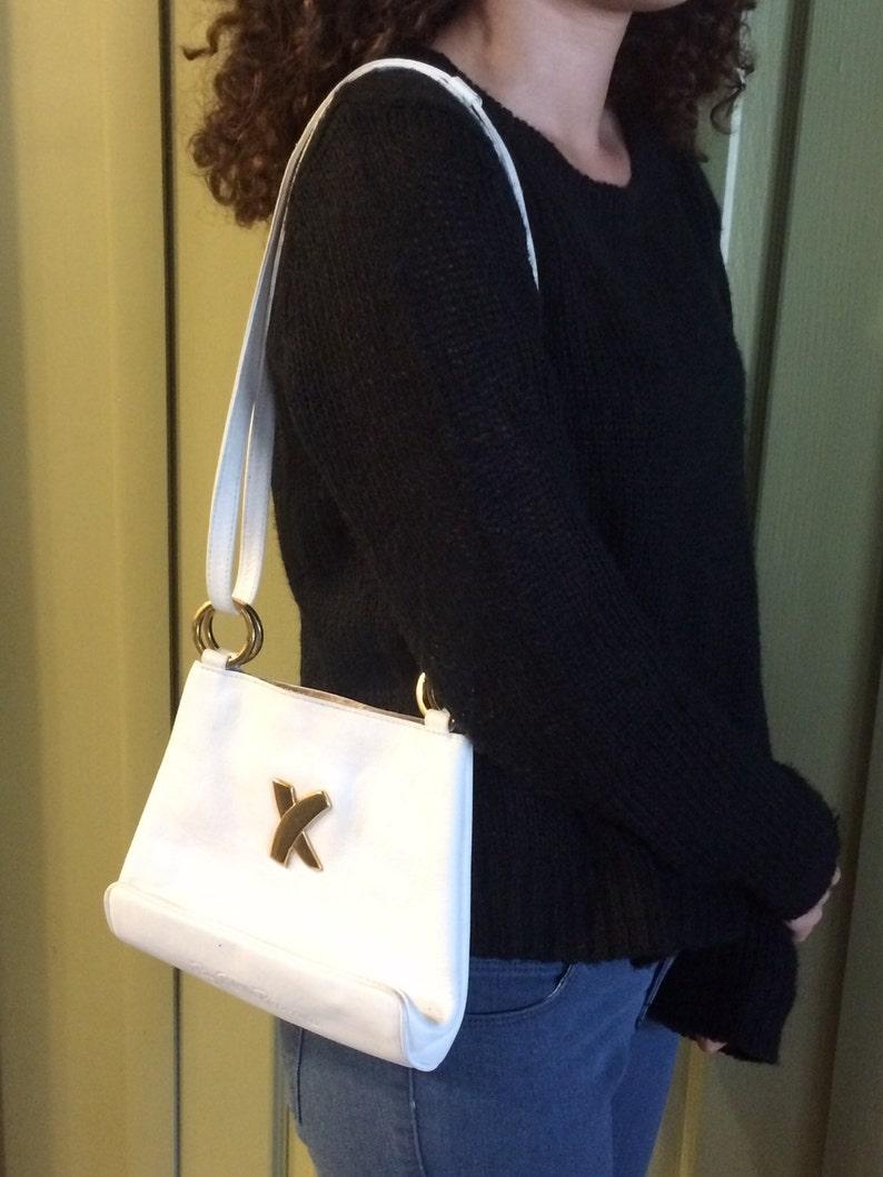 96afc2742 Vintage de Paloma Picasso bolso de cuero blanco blanco bolsa   Etsy