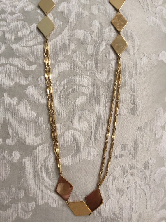 Vintage Gold Necklace Monet Necklace Long Gold Chain Etsy