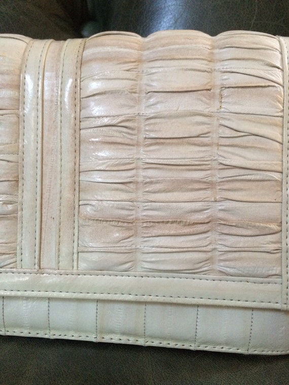 Vintage Eel Skin Purse, Gray Eel Skin Purse, Eel … - image 3