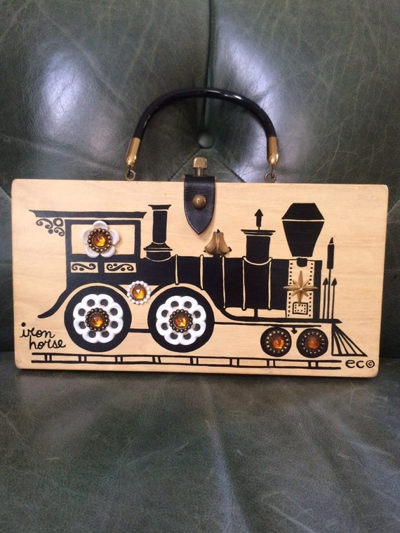 Enid Collins of Texas, Iron Horse Box Bag, Vintage