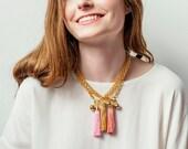 Fringe Necklace, Tassel Necklace, Statement Necklace, Boho Necklace, Bohemian necklace, Lightweight Necklace, Modern Necklace