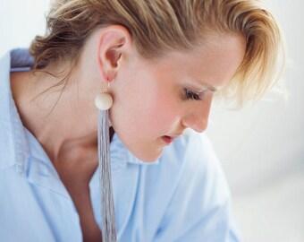 Fringe Statement Earrings, Statement Tassel Earrings, Tassel Earrings, Statement Earrings, Lightweight Earrings, Modern Earrings