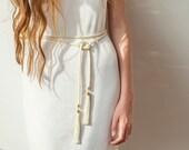 Wrap Belt, Tassel Belt, Rope Belt, Boho Belt, Bohemian Belt, Boho Accessories, Bohemian Accessories, Boho Bride, Wedding Dress Belt