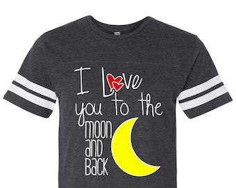 7b7c6e24c6 Toddler Valentine Shirt, I Love You to the Moon and Back Football Jersey,  Cute Baby Shower Present, Baby Boy Clothing, Cute Kids Tshirt Tee
