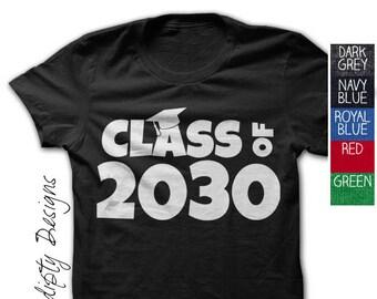 Kindergarten Graduation Shirt - Class of 2030 Tshirt / Kids Personalized Graduate Shirt / Kids 2018 Shirt / Children Graduation Gift Outfit