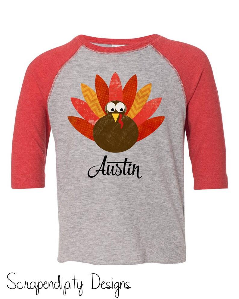 85e24869 Kids Thanksgiving Tshirt Toddler Baseball Raglan Shirt Baby   Etsy