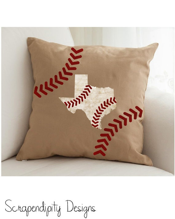 Baseball Pillow Baseball Texas Throw Pillow Baseball Mom Etsy