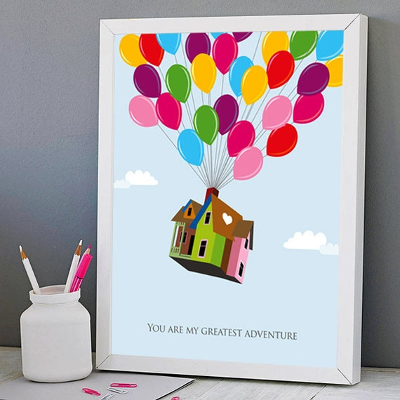 Up Inspired Printable Poster You Are My Greatest Adventure Etsy