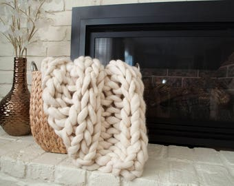 Baby/Pet Blanket- Chunky Merino Wool Knit