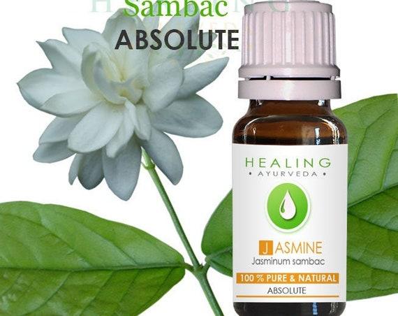 Jasmine Sambac Absolute- Arabian Jasmine -  Natural Sambac flower oil-  Jasminum Sambac Pure Absoute