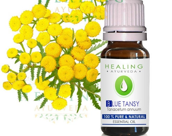 Blue Tansy essential oil- 100% Pure Blue tansy essential oil-  Tanaisie annuelle- Tanacetum annuum- Ayurvedic skin care oil-  Undiluted pure