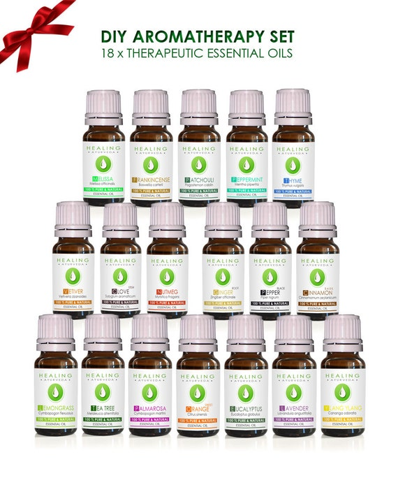 Aromatherapy essential oils set -100% Pure Natural essential oils- Ayurveda essential oils- DIY Bath & beauty oils-Undiluted oils- Set