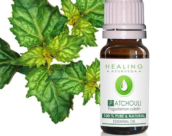 Patchouli Essential oil- Premium wild crafted -Pure Therapeutic essential oil- Skin care oil- Bath and beauty-Ayurveda oil- Pure Patchouli