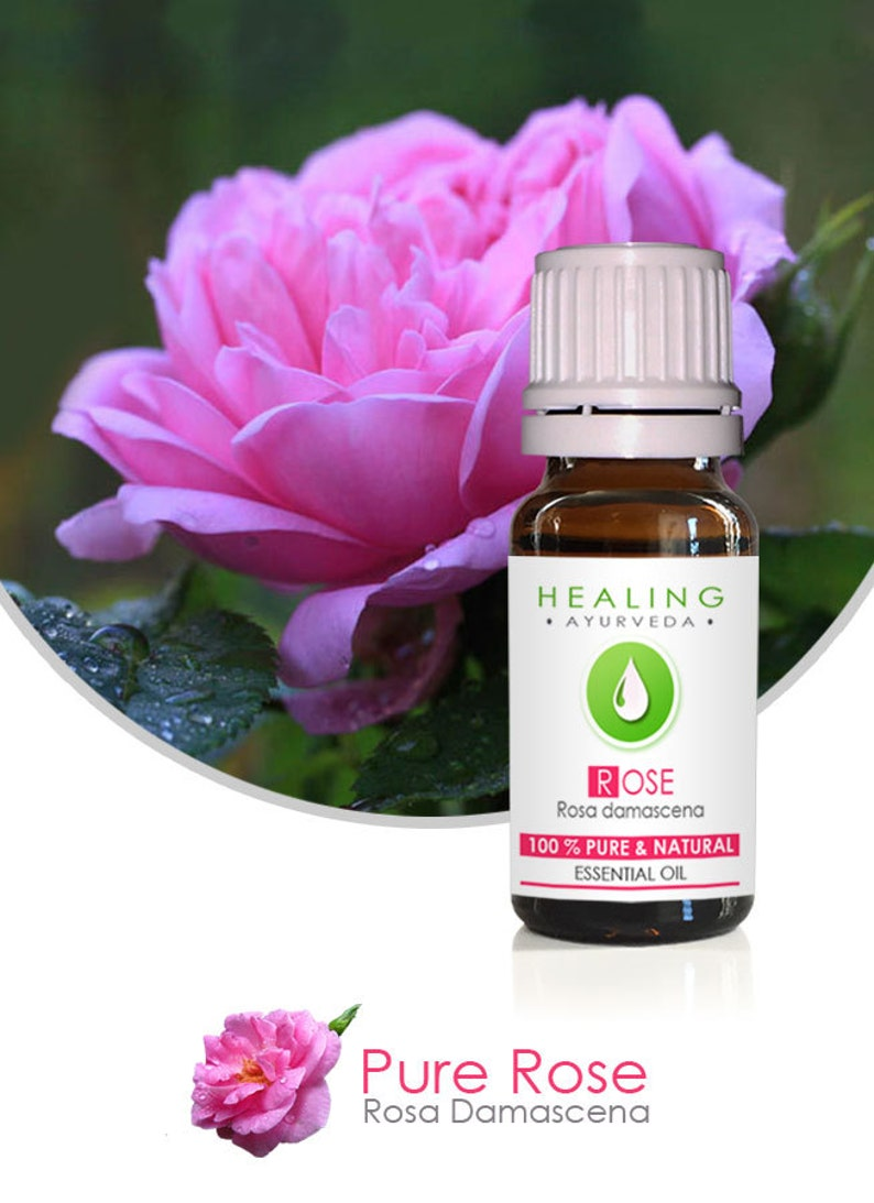 Pure Rose oil 100% Rose Otto Undiluted Rose Essential oil image 0