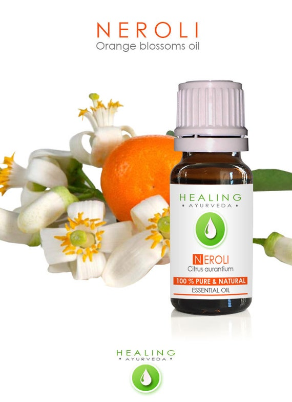 Neroli - Orange blossoms oil- 100% Neroli essential oil- Natural Orange flower oil- Aromtherapy essentil oil- Hair care- bath & beauty oil