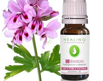 Rose geranium essential oil- 100% pure bourbon geranium oil- Pelargonium graveolens - Skin care - DIY Bath & beauty oil- Huile de Géranium