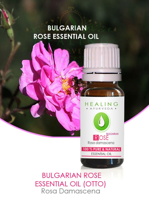 Bulgarian Rose Essential oil- Rose otto- Rosa damascena, Pure Rose oil-Undiluted Rose oil- Bath & beauty- Genuine Rose oil-Natural rose oil