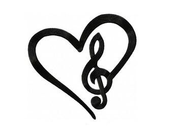 treble clef heart etsy rh etsy com treble clef heart necklace treble clef heart ornament