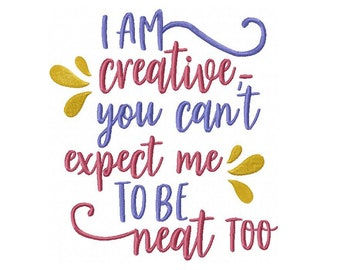 I Am Creative Machine Embroidery Digital Download
