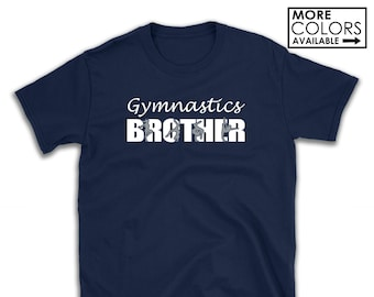 f76caf4a0 Gymnastics Brother Shirt - Personalize the Colors - Beautiful Glitter -  Gifts for Brother - Gifts for a Gymnastics Brother