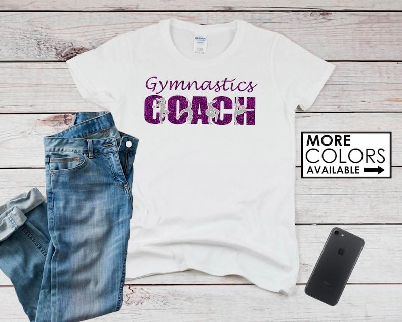 a7f0fe1fa Gymnastics Coach Shirt Personalize the Colors Beautiful | Etsy