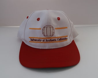 USC University South California Trojans Snapback Volleyball Hat Cap White  Low Profile 0d02da2193bc