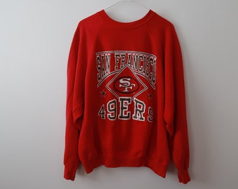 0d48dc1e8e3 Vintage San Francisco 49ers Sweatshirt 90s Adult Mens Medium - Large