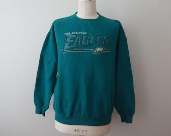 57b69acb Philadelphia Eagles Sweatshirt Vintage Adult Mens XL - 2XL