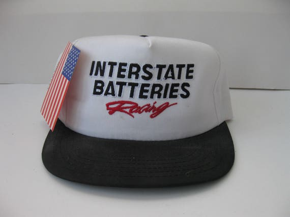 143d544834cb1 Vintage Interstate Batteries Racing snapback hat cap