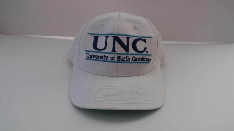 1e94fa0d UNC University North Carolina Tarheels Snapback Hat Cap White   Etsy