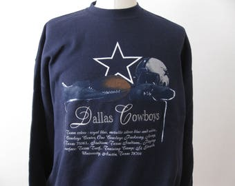 Vintage 90s Dallas Cowboys Sweatshirt Crewneck Adult XL