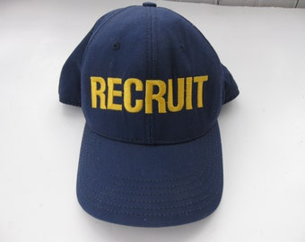 ON SALE Recruit Hat Cap Embroidered Rookie Cop Coast Guard Military