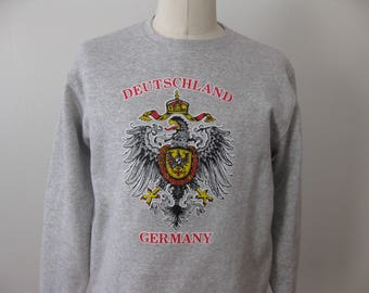 Germany Deutschland Sweatshirt Crewneck Adult Mens Large