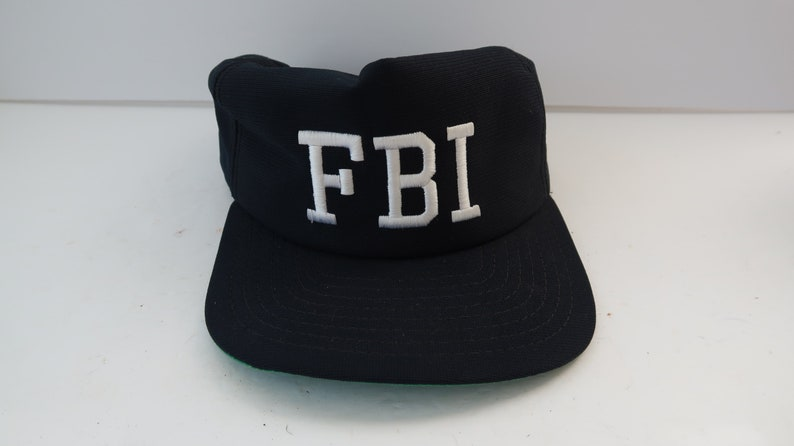 e4ba0bc34 Vintage FBI Hat Cap Snapback military police Adult