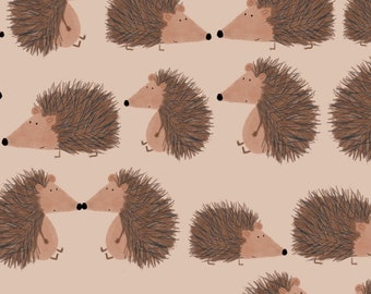 NEW!  Hedgehog romper,  baby romper, toddler dungarees, hedgehogs, organic cotton, baby gift, newborn gift