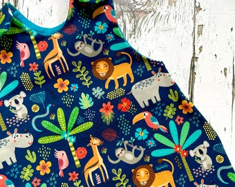 NEW! Jungle baby romper, baby dungarees, diggers, toddler romper, toddler dungarees, baby clothes, organic clothes