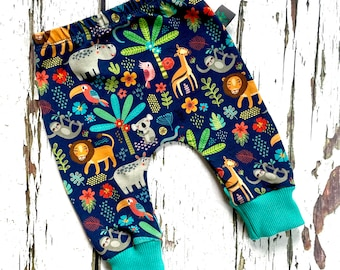 NEW Baby clothes, jungle baby leggings, lion, baby clothes, leggings, girl leggings, boy leggings, baby trousers, baby pants, jungle