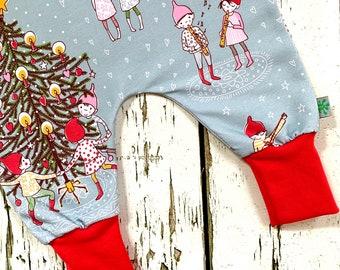 New! Christmas Gnomes organic romper, Christmas baby dungarees, romper, kids romper, baby romper, Christmas tree, baby clothes, gnomes