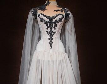 cfc0626c3670 Vampire Bride corset dress with cloak