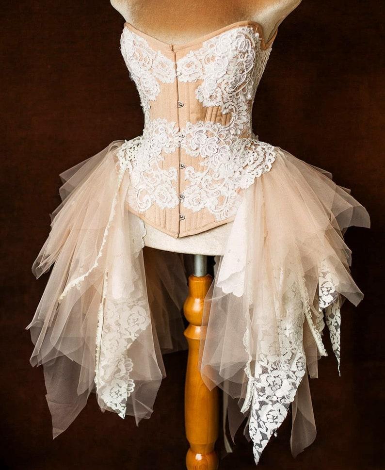 d43e7ceb893 Elven Queen bridal couture overbust corset Burlesque corset