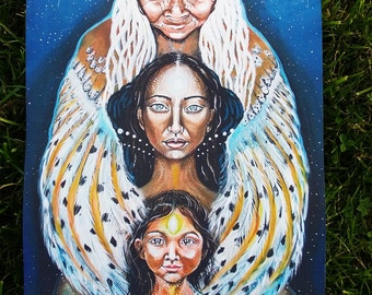 Soul Travelers-high quality print on canvas(tapestry,wall-hanging)