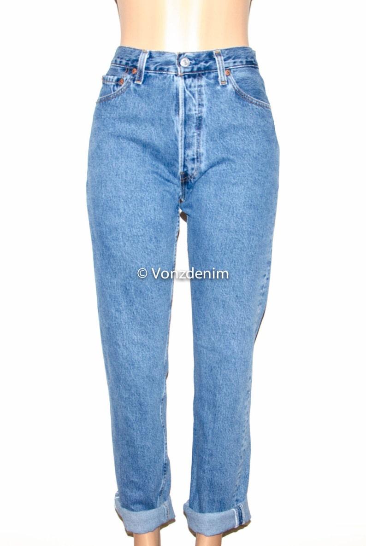 be40d89fcb Levi 501 Button Fly Boyfriend Jeans Levi 501 Full Length | Etsy
