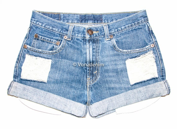 high waisted jean shorts vintage plus size