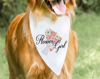 Flower Girl Dog Bandana Wedding Bandana Dog Flower Girl Bandana Wedding Photo Shoot Prop Dog Wedding Bandana Collar Bandana Dog Flower Girl
