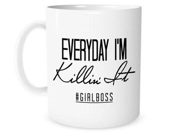 Girl Boss, Gift for Boss , Boss Gift, Boss Babe, Girl Boss Mug, Boss Babe Cup, Boss's Day Gift, Office Gift, Christmas Gift Idea, Coffee Mug